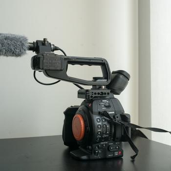 Rent Canon C100 Mark ii with Rode Shotgun Mic