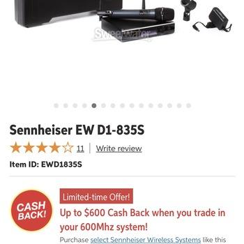 Rent Sennheiser Wireless Mic
