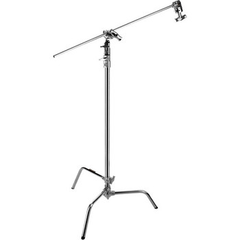 "Rent Impact Chrome C-Stand with 40"" extension arm"
