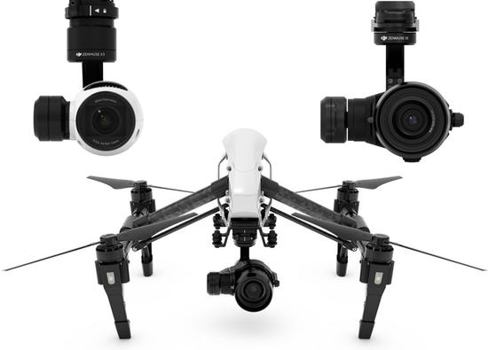Dji inspire cameras zenmuse x3 x5 drone 1024x735