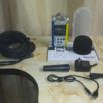 Rent Zoom H4n Standard Package + 16 Gb MicroSDHC + 2x TRS to XLR Male to Male Cables (15 ft, 1/4 inch)