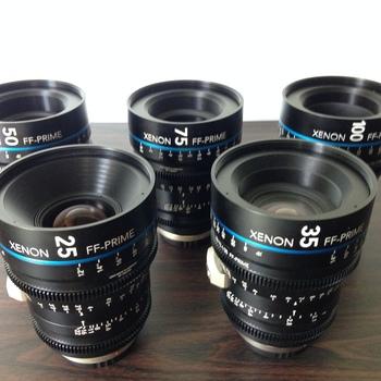 Rent Schneider Xenon FF 5 Lens Kit EF or PL