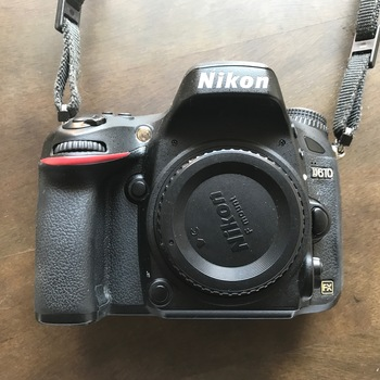 Rent Nikon D610 full frame DSLR Camera body. Includes battery, charger, and SD card