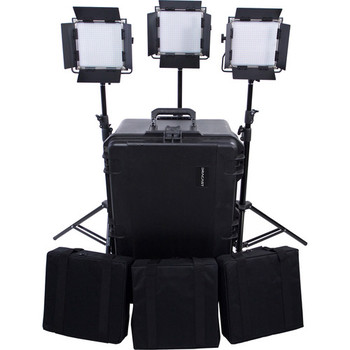 Rent LED 500 S-Series Daylight LED 3-Light Kit w/stands and hard case