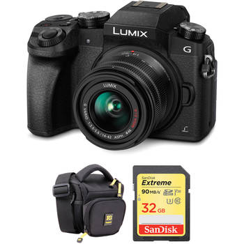 Rent Panasonic Lumix DMC-G7 Mirrorless Micro Four Thirds Digital Camera with 14-42mm Lens and Accessory Kit (Black)