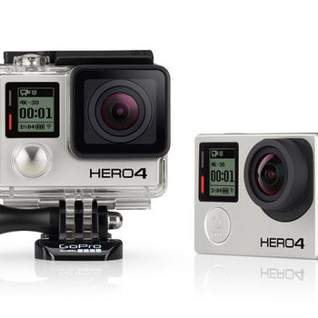 Rent GoPro Hero 4 Black with MicroSD Card, USB cable, various housings.