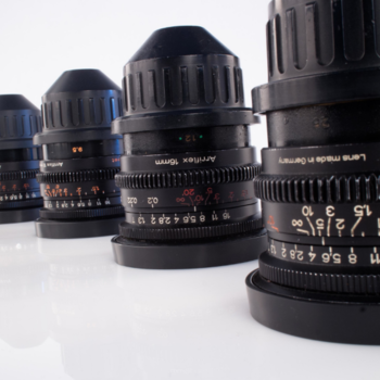 Rent Set of Zeiss Super Speed lenses T1.3 9.5mm, 12mm, 16mm, 25mm in Arri-B Mount Zeiss Mark I Lenses