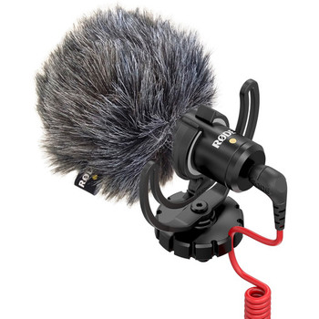 Rent Rode VideoMicro Compact On-Camera Microphone (Batteries Not Needed)