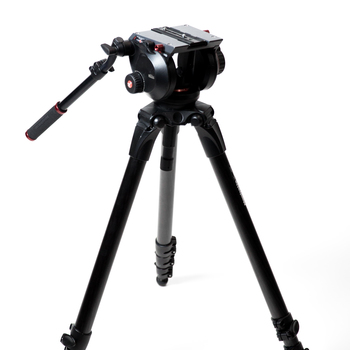 Rent Manfrotto 536 Carbon Fiber Tripod with 509HD Video Head and Padded Carry Bag