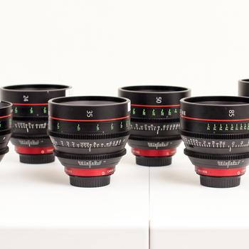 Rent Canon CN-E Primes 6 Lens Set, 14, 24, 35, 50, 85, 135