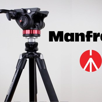 Rent Manfrotto 055XPROB Pro Aluminum Tripod w/ Fluid Video Head
