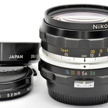 Rent Nikkor 28mm f/3.5 Wideangle Lenses