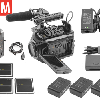 Rent Blackmagic Ursa Mini 4.6K | 3x 256gb | 3x Batteries | Mic