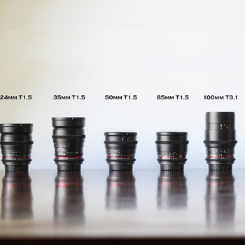 Rent Rokinon Cine Lens kit - 7 lenses EF mount