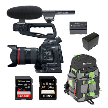 Rent Canon C100 (w/ Cards, Lens, Microphone)