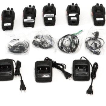 Rent 5 Walkie Talkies with Headsets