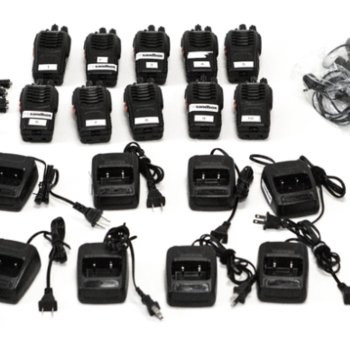 Rent 10 Walkie Talkies with Headsets