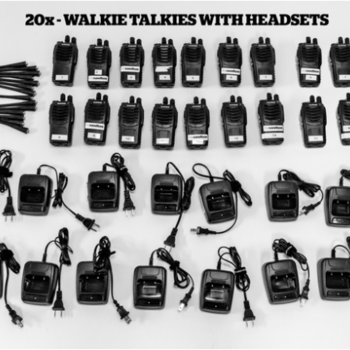 Rent 20 Walkie Talkies with Headsets