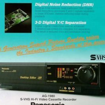 Rent Panasonic VHS S-VHS PRO Editing VCR Player / Recorder