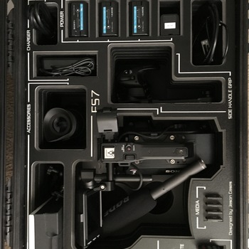 Rent Sony FS7 camera with Canon L Series lenses and monitor