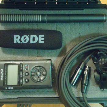 Rent Rode NTG-2 Shotgun Mic & Tascam DR-40 Audio Full Package