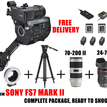 Rent READY COMPLETE Sony PXW-FS7 MII XDCAM Super 35 Camera + lenses and tripod