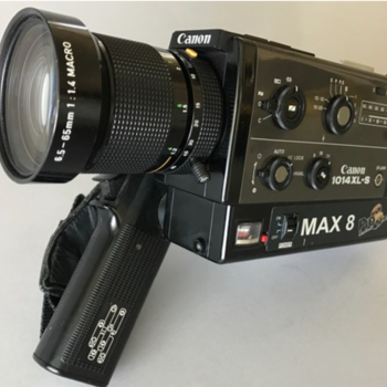 Rent Pro8mm Max 8 Canon 1014xls w/& 24fps Crystal Sync Super 8 Camera