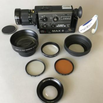 Rent Pro8mm Max 8 Canon 1014xls w/& 24fps Crystal Sync Super 8 Camera