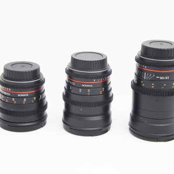 Rent Set of 3 Rokinon Lenses- EF Mount 24,50,135mm