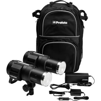 Rent Profoto B1 double kit w/soft box+expandable beauty dish+medium softbox