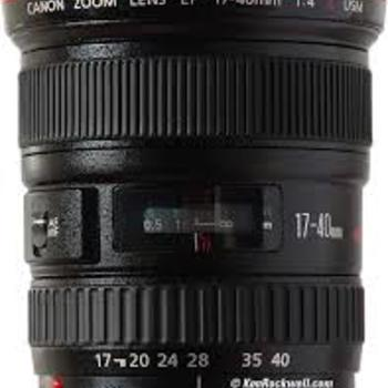 Rent Canon 17-40mm / T4.0 EF mount