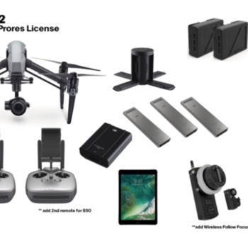 Rent INSPIRE 2 with X5S (Raw & ProRes License) + Accessories