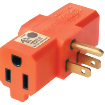 Rent 3-Way Outlet Adapter Orange