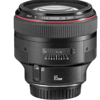 Rent Superb Portrait Lens - Canon 85mm F/1.2 L II