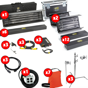 Rent KINO FLO KIT: 4FTx4BANK, 2FTx4BANK, STANDS, BAGS, STINGERS