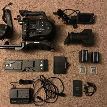 Rent SONY FS7 4K CAMERA w/ Zacuto Body Kit, Canon Lens Adapter, Extra Bat & Cards