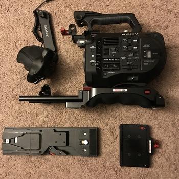 Rent SONY FS7 w/ Zacuto Body Kit, Canon Lens Adapter, Extra Bat & Cards