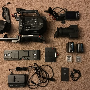 Rent SONY FS7 4K CAMERA w/ Zacuto Body Kit, Canon Lens Adapter, Extra Bat & Cards