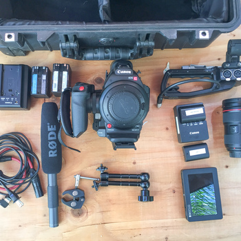 Rent CANON C100 Mark II | LENS + SMALL HD + RODE BOOM | CINEMA KIT