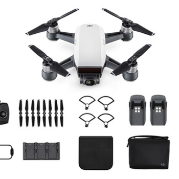 Rent DJI Spark with insurance, 4x batteries and fly more combo accessaries
