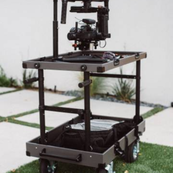 Rent DJI Ronin-MX gimbal with Cinemilled baseplate, extensions, and weights.