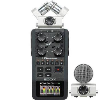 Rent Zoom H6 Handy Recorder with Interchangeable Microphone System, Four XLR/TRS Inputs
