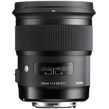 Rent Sigma Art 50mm f/1.4 DG HSM Lens for Canon EF