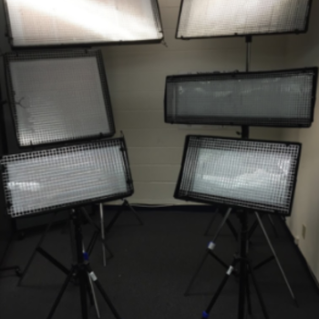 Rent FULL PRODUCTION LIGHTING: 6 LIGHTS/ 6 STANDS/ DIFFUSION