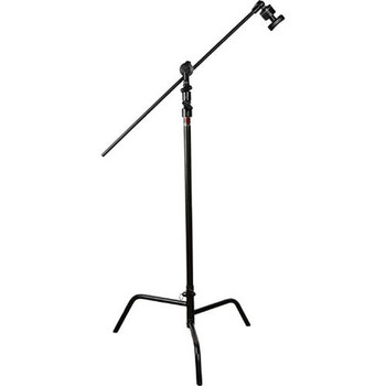Rent 4x C-Stands w/ Grip Arm Boom & Turtle Base, Black, 10.5'