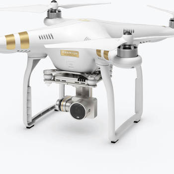 Rent Dji Phantom Pro 3 with 2 batteries, sunshade, and backpack.