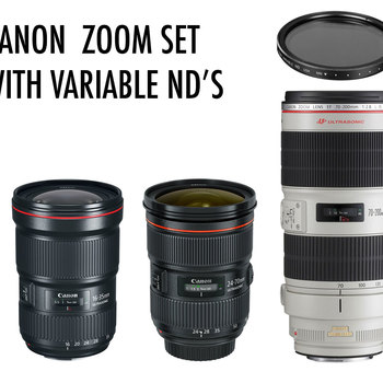Rent Canon Zoom Package! The only three zoom's you will need... With Variable ND's!!!