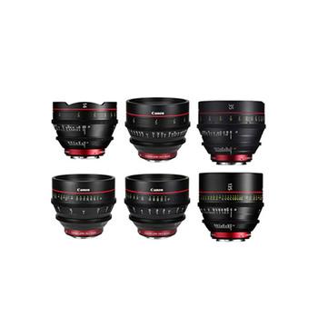 Rent Canon Cine Prime Set - 14mm, 24mm, 35mm, 50mm, 85mm, 135mm