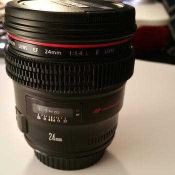 Rent Canon 24mm  L, 50mm L,  85mm L