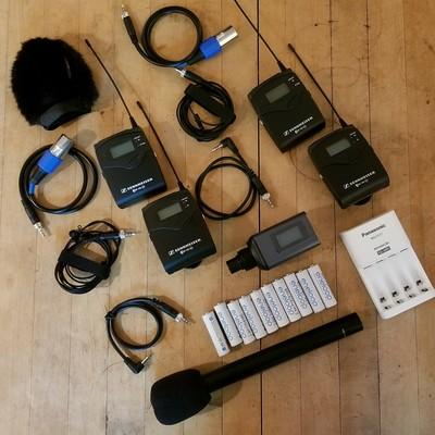 Sennheiser 2x lav 1x mic set